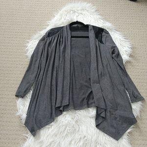 3/$20 Dark gray drape cardigan, size small